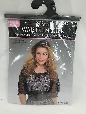 Adult Faux Leather Waist Cincher Halloween Costume - One Size Fits Most (Size 8)