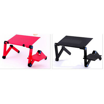 Adjustable Portable Folding Laptop Desks Computer Table Stand Tray For Bed Sofa