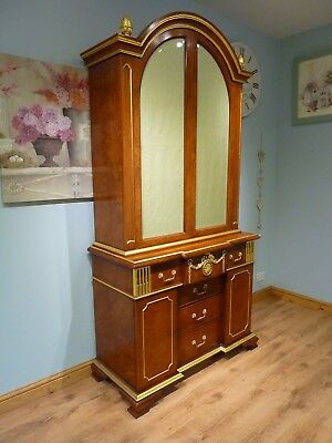 Large Ornate Decorative Linen Press Wardrobe Cupboard Cabinet Drawers with Key