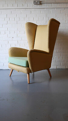 Fab 50's 'Fanfare' Howard Keith wingback for upholstery Danish Heals G-Plan