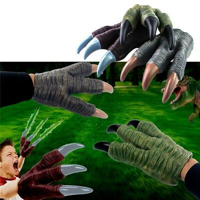 Monster Dinosaur Dragon Zombie Costume Hands Claw Gloves Cosplay Trick Prop Toy
