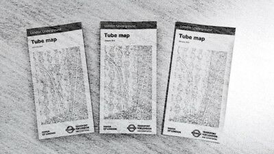 3 x POCKET London TUBE map --- January 2018 --- UNDERGROUND --- COLLECTABLES