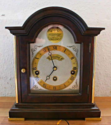 vintage dutch WESTMINSTER 4/4 striking WUBA Warmink shelf mantle bracket  clock