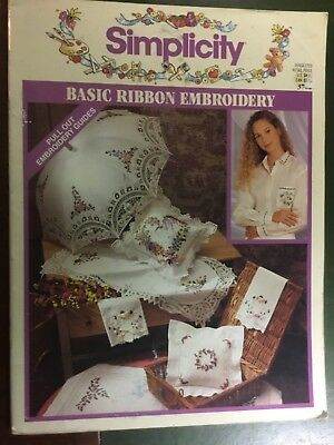 Simplicity Basic Ribbon Embroidery booklet