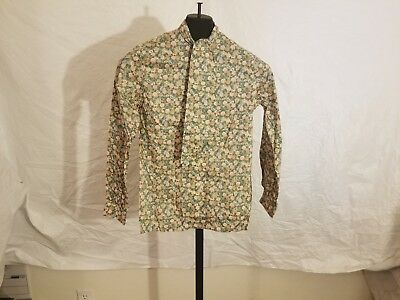 Vintage 1970's Size 6 Liberty Of London Button Down Long Sleeve Floral W/ Tie