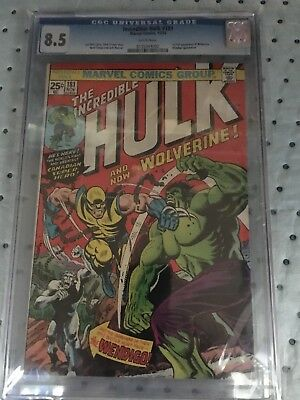 Incredible Hulk #181 Cgc 8.5 With White Pages 1St Wolverine