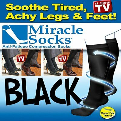 Compression MIRACLE SOCKS Aching Feet Varicose Veins Flight Travel Anti-FatigCR1