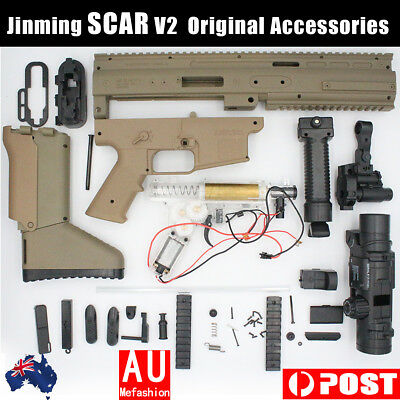 Upgrade Jinming SCAR V2 Gel Blaster Water Bullet Mag Fed Toy Customized Exterior