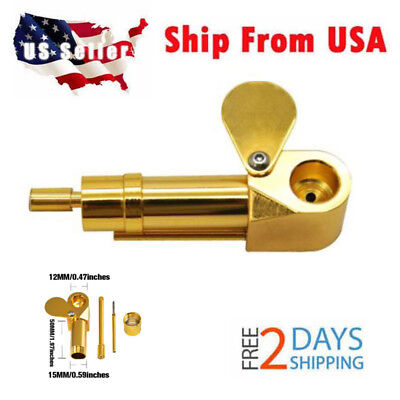 1×  Solid Brass Tobacco Smoking Proto Pipe Tar Tarp Storage Cylinder Chamber