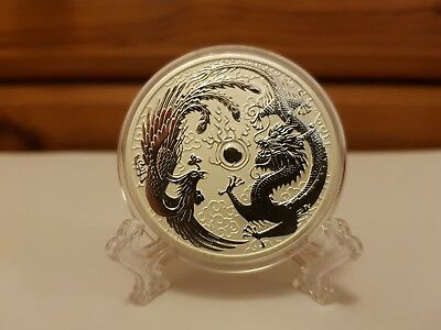 2017 Australian Dragon and Phoenix 1 oz Silver Limited mintage