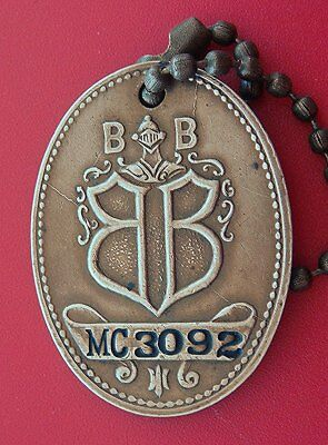 Vintage Brass Charge Coin Tag: BOGGS & BUHL Dept Store Pittsburgh PA; w/KeyChain