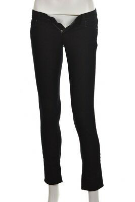 03860d1e Paige Blue Heights Womens Jeans Size 24 Black Cotton Skinny Casual Pants