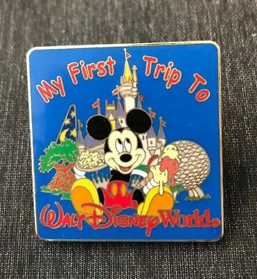 My First Trip to Disney World trading pin epcot animal kingdom mickey mouse ears