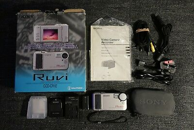 Sony Ruvi Ccd-Cr1E Video Camera Recorder Camcorder Boxed & Fully Working