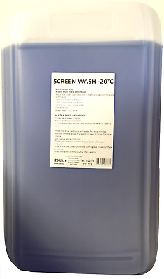 Showtime Winter Washer Fluid Screen Wash Concentrate 25L Effective to -20oC