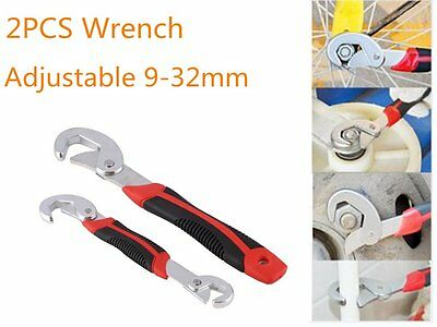 2PCS Multi-function Adjustable Quick Snap'N Grip Universal Wrench Spanner Lot E