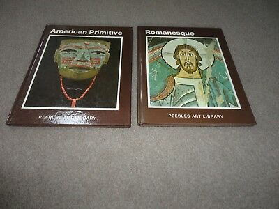 2 Books:romanesque And American Primitive-Hardback-By Peebles Art Library-