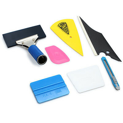 7PCS Car Window Tint Wrapping Rubber Tools Squeegee Scraper Set Kit For Car Home