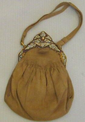 20s antique art deco FRENCH PURSE inlay pearl abalone celluloid FAB FRAME