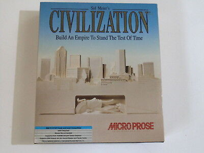 """PC SID MEIER'S CIVILIZATION Microprose 1991 3+ (MS Dos 3.0 or later - 3.5"""" Flopp"""
