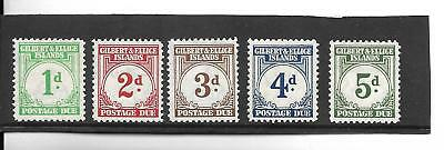 GILBERT AND ELLICE ISLANDS 1940 POSTAGE DUES TO 5d. MH. SG D1-D5.  (224)