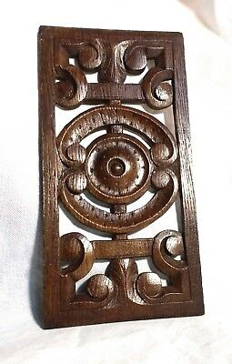 A Beautiful 16th Century Pierced Carved Oak Panel