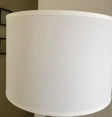 """Pair of fabric lamp shades- 10""""H, 15.5""""D, very good condition."""