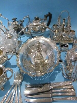 Lovely Large Job Lot of Beautiful Antique & Vintage Silver Plate Items & Cutlery