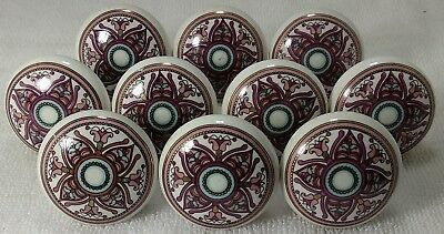Purple Mixed Color Ceramic Door Knobs Kitchen Cabinet Knobs Vintage Door Knobs