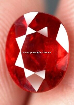 Aaa Natural Spessartine Garnet Ct4.76 Oval Cut Eye Clean Origin Namibia Unheated