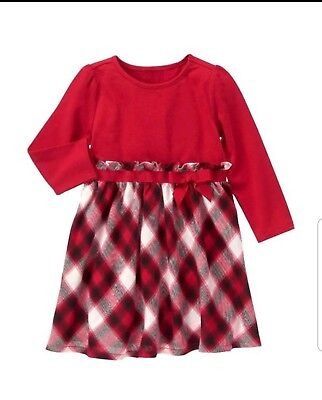 Gymboree Girls Christmas Dress long sleeves red size 4