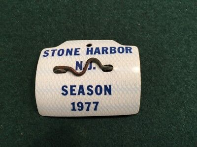 1977 Season Stone Harbor NJ Beach Tag Badge Jersey Shore