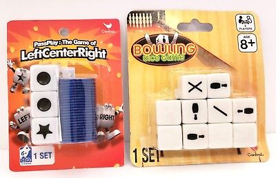 Bowling Dice Game Pass Play Game Left Center Right Dice Game by Cardinal Lot 2