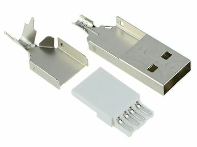 10 x USB Type A Rewireable Plug Connector