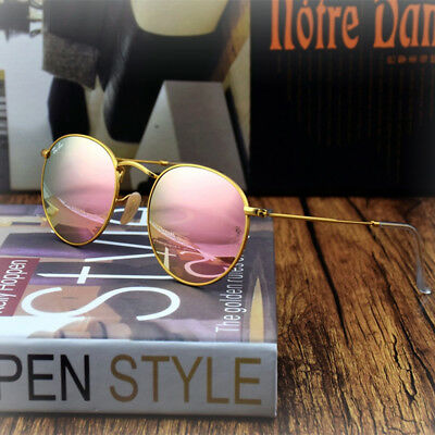 Ray-Ban Round Metal Sunglasses RB3447 112 Z2 Matte Gold Cooper Flash Lens 9f504169b4b5