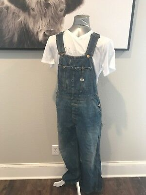 1950's Vintage Lee Overall Distressed Sanforized Union Made In The USA