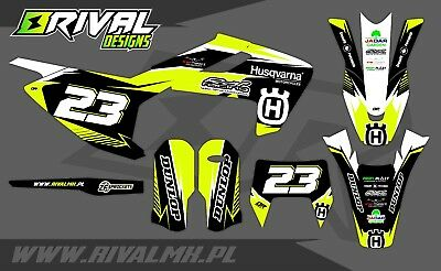 Husqvarna TX TE FE 2017 2018 2019 Graphics Decals Stickers Dekor Rival Designs