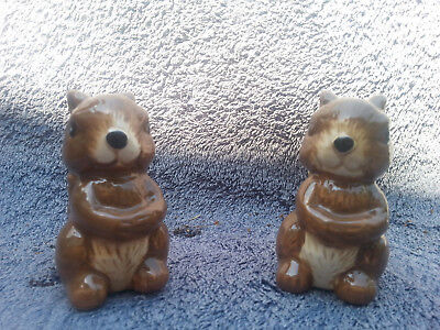 2 Squire SALT & PEPPER SHAKERS