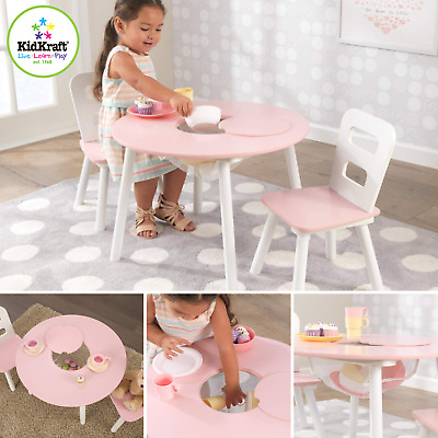Brilliant Kidkraft Round Table And 2 Chair Set White Natural 27027 Pabps2019 Chair Design Images Pabps2019Com