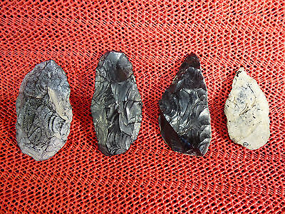 Four Native American Obsidian Points. N. Paiute Oregon Columbia River Pacific NW