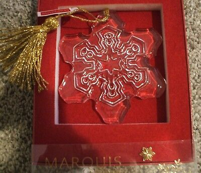 Marquis By Waterford 2015 Snowflake Ornament New In Box Christmas