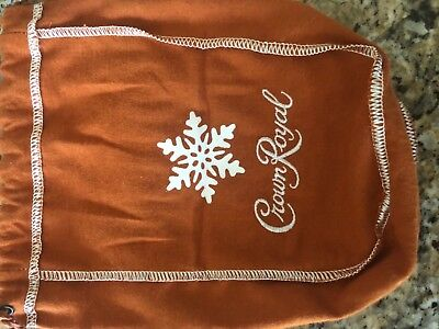 """Limited Edition"" SALTED CARAMEL CROWN ROYAL POUCH Orange With SNOWFLAKE"