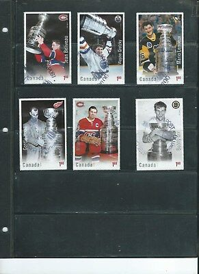 Canada Stamps — Set of 6 — 2017, Hockey Cards NHL: Stanley Cup Winners — USED