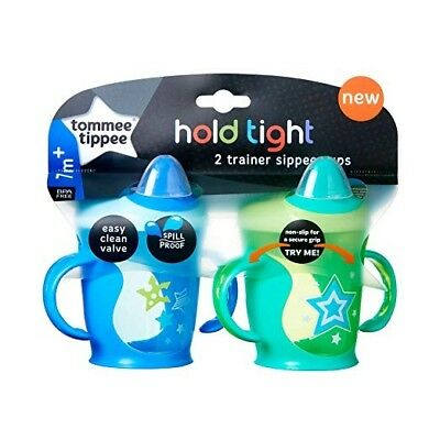 Tommee Tippee Hold Tight Trainer Sippee Cup, 9 oz., 2 Count - BRAND NEW!