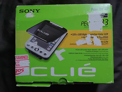 Retro Sony Clie PEG SJ33 PDA Organiser,Vintage Palm PC MP3 Mobile Diary Computer
