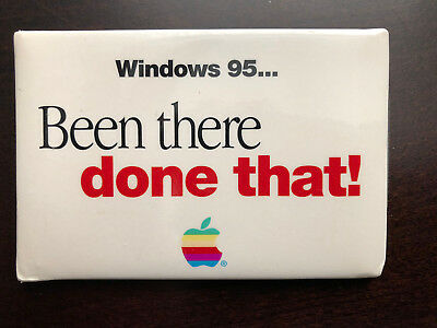 """Windows 95 Apple Computer """"Been There Done That"""" Pin"""