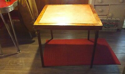 """VINTAGE Ferguson  FOLDING WOOD CARD TABLE 30"""" X 30""""  x 27 inches tall  ANTIQUE"""