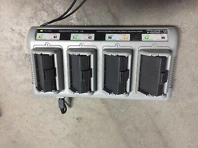 ZEBRA QUAD BATTERY CHARGER UCLI72-4 with batteries