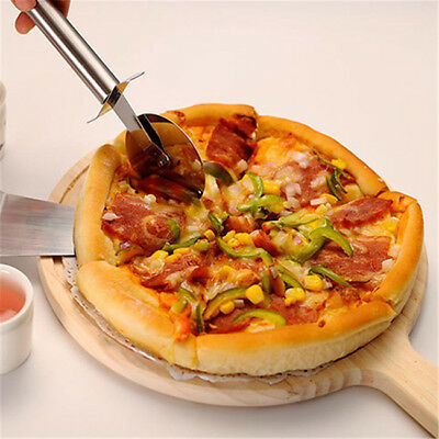 Wood Bread Tray Vintage Chopping Block Handle Pizza Board Round For Food N7
