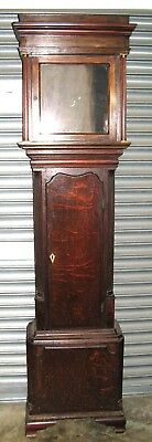 """A Good 18th Century Oak Case for 12"""" Square Dial."""